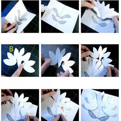 Как сделать объемные буквы из бумаги на открытку