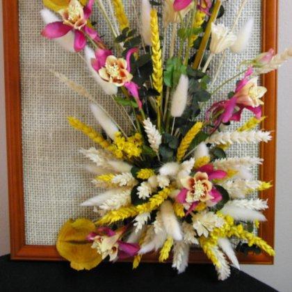 Икебаны из искусственных цветов но