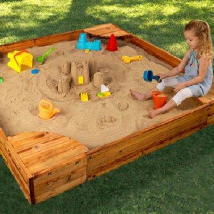Как построить песочницу своими руками дешевле всего?