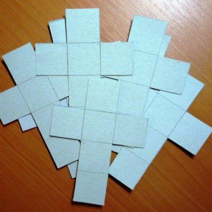 Как сделать из бумаги кубик без клея