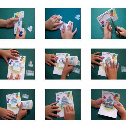 Как сделать открытку на день рождения пошагово