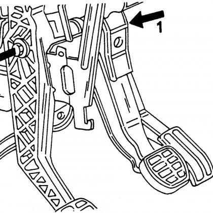Как снять педаль сцепления?