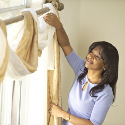 Как погладить шторы?
