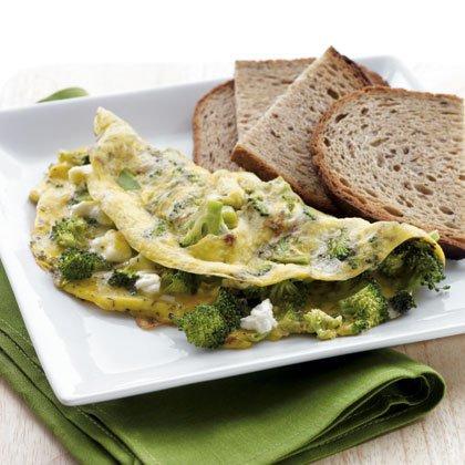 Как приготовить омлет: рецепт с брокколи