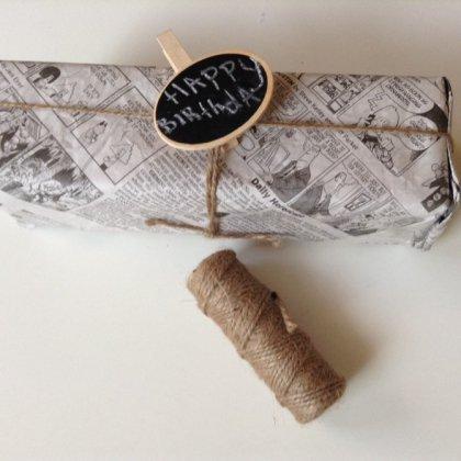Как упаковать подарок в газету?