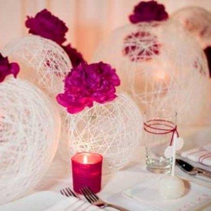 Как украсить зал на свадьбу: идеи со свечами и шарами