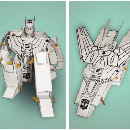 Как сделать робота-трансформера из бумаги?