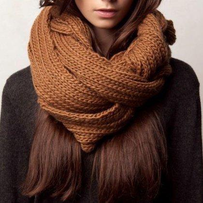 Как сделать шарф для девушки