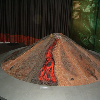 Макет вулкан своими руками