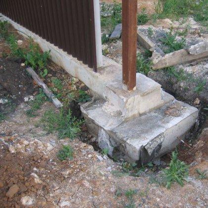 Как установить столбы для ворот?