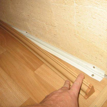 Плинтус потолочный пластиковый установка своими руками