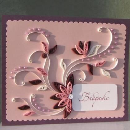 Идея, как можно сделать простую открытку смой для бабушки: открытка для бабушки в технике квилинг