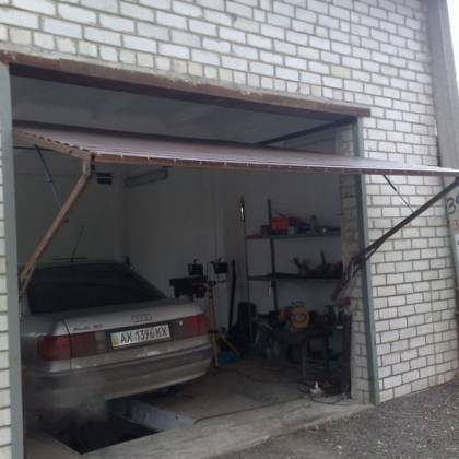 Ворота на гараж подъемные своими руками фото
