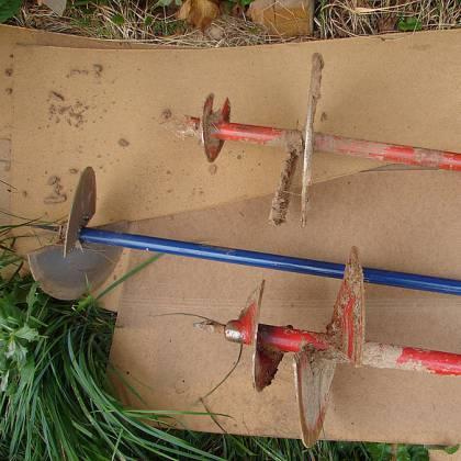 Как сделать бур своими руками? Ручной садовый бур