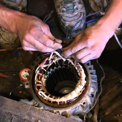 Как подключить 3 фазный двигатель в однофазную сеть?