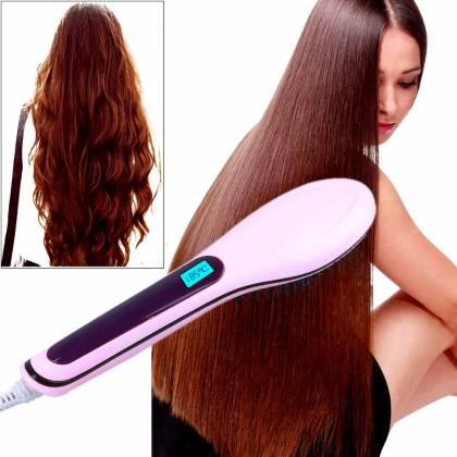 Расческа-выпрямитель Fast Hair выпрямляет волос не повреждая их