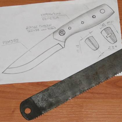 Охотничьи ножи своими руками фото чертежи