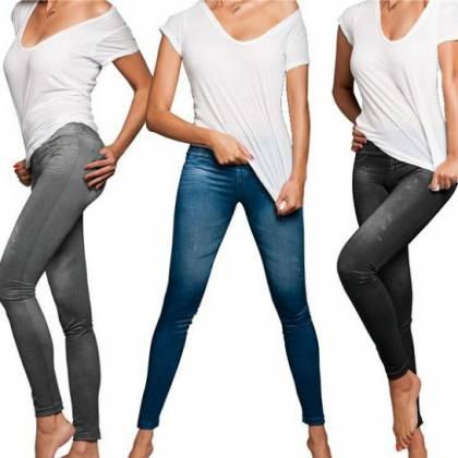 Комфортные леджинсы Slim Jeggings. Леджинсы Slim Jeggings внешне выглядят как джинсы