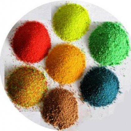 Как красить песок кварцевый?