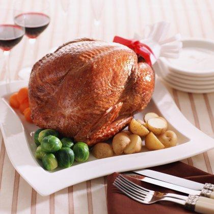 Курица, запеченная в фольге целиком