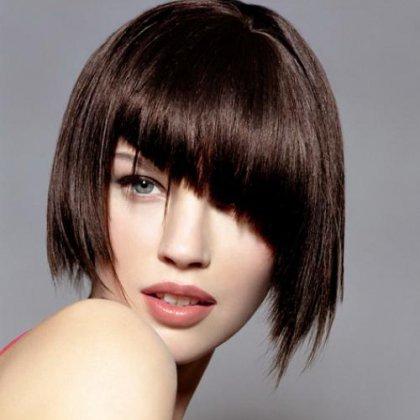 Как можно подстричь волосы средней длины - 040