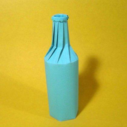 Как сделать из бумаги и бутылки 569