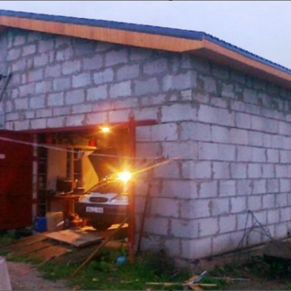 Как построить гараж из газобетона своими руками в частном доме