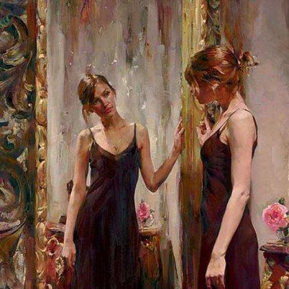 Стих смотря на себя в зеркало