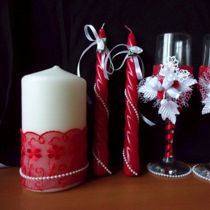 Cвадебные свечи своими руками: делаем, украшаем, идём 34