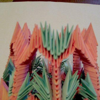 Как сделать пальму из модулей оригами?