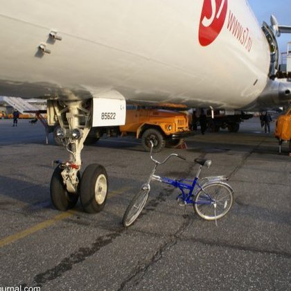Как перевезти велосипед в самолете?