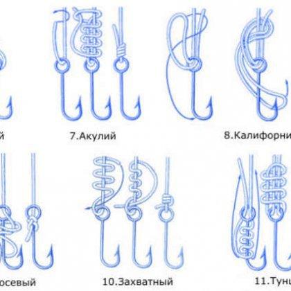 как правильно вязать рыбацкие крючки