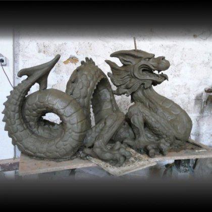 Как сделать дракона из теста