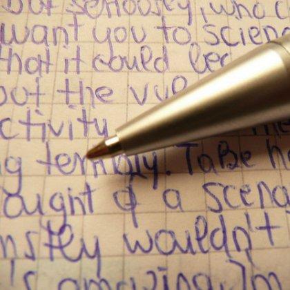 Как вывести надпись шариковой ручкой?