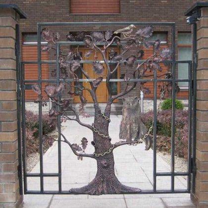 Как построить ворота на даче своими руками?