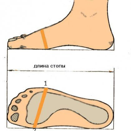 Как определить полноту обуви?