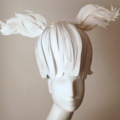 Как сделать парик из бумаги?
