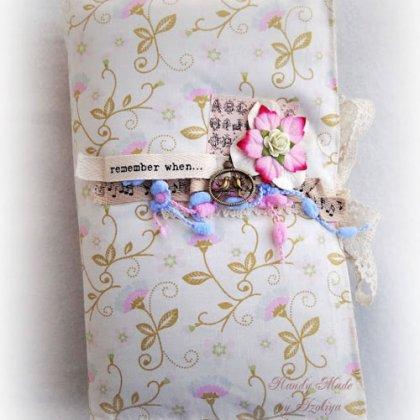 Как сделать обложку для блокнота из ткани?