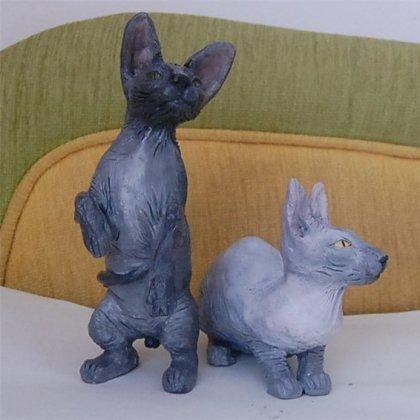 Животные из глины фото