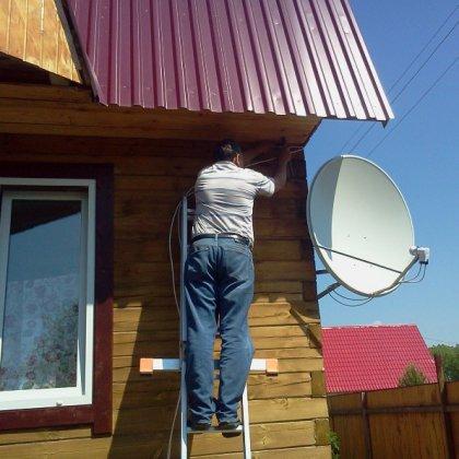 Как подключить спутниковую тарелку?