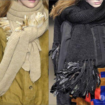 Как красиво завязать длинный большой шарф?