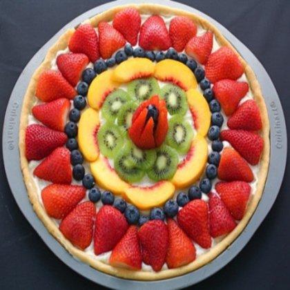 Как приготовить фруктовую пиццу ?