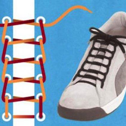 Как завязывать двойные шнурки?