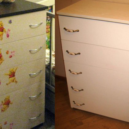 Как перекрасить мебель из дсп с пленкой 140