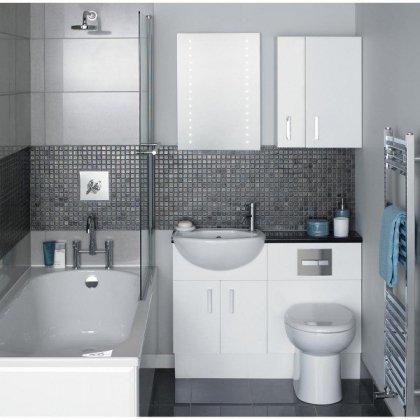 Как обустроить маленькую ванную комнату ?
