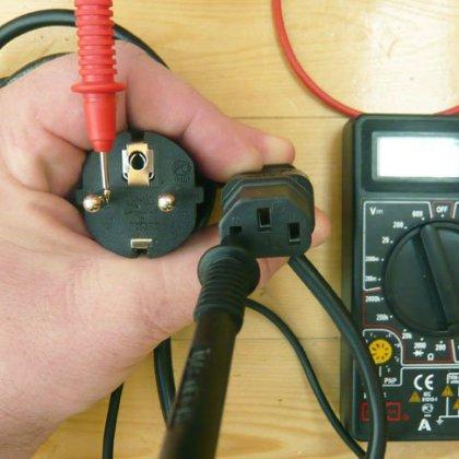 отменяла резко как проверить вилку электроприбора мультиметром возникают случаи