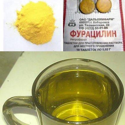 Фурацилин как приготовить раствор для полоскания