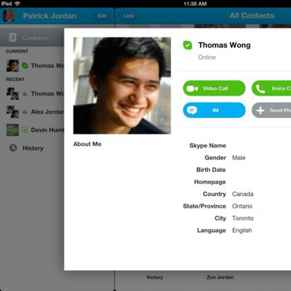 how to delete a skype contact on ipad 2