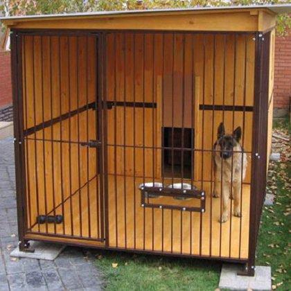 Небольшой вольер для собаки