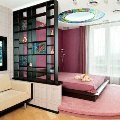 Как разделить комнату на спальню и гостиную?